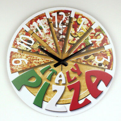 Large Pizza Silent Wall Clock