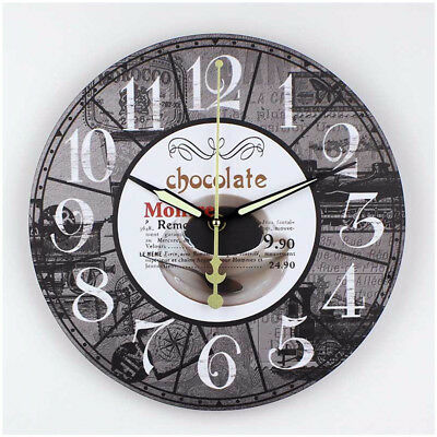Chocolate Non-Ticking Silent Wall Clock