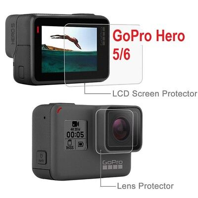 For Gopro Hero 6/5 Screen Protector / Lens Protect 9H Hardness Tempered Glass UK
