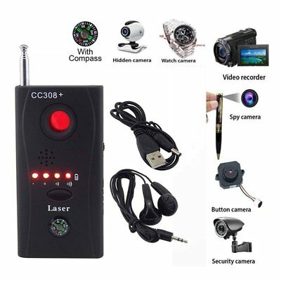 Hidden Camera GPS Signal RF Tracker Detector GSM Bug Finder Antispy Surveillance