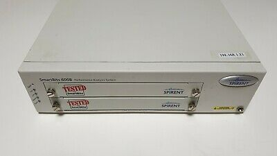 Spirent SmartBits SMB-600B Chassis with Basic S/W, Tested, Working. F/W ver. 2.8