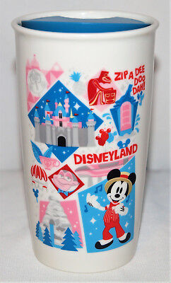 "NEW! Disneyland Exclusive Starbucks 12 oz 6"" 2nd Edition Travel Tumbler Mug 2018"