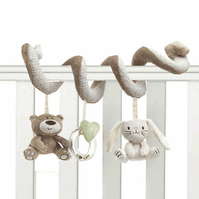 Newborn Baby Kid Animal Rattles Spiral Stroller Bed Cot Crib Hanging Doll Toy