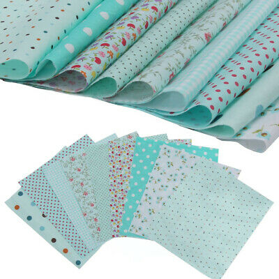 9pcs 25*25cm Blue Cotton Fabric Patchwork Batiks Mixed Bundle Sewing Craft DIY