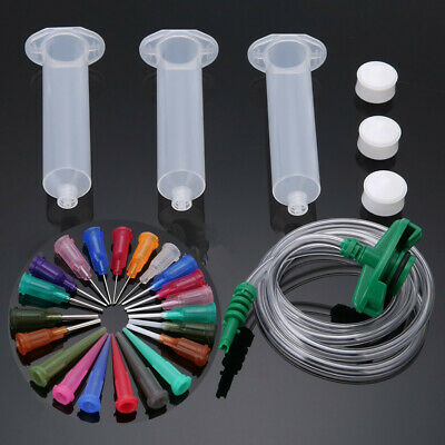 30CC Dispenser Solder Paste Adhesive Glue Syringe Dispensing Needle Tip Kit Set