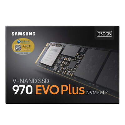 SAMSUNG 250GB SSD MZ-V7E250BW 970 EVO Plus NVMe PCIe 3.0 TLC M.2 2280 Internal