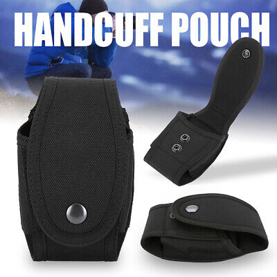 Military Enhance Mold Belt Mounted Security Single Handcuff Pouch Case Black DIY
