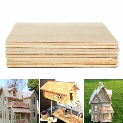 10Pcs 200x100x1.5mm Wooden Plate Model Balsa Wood House Ship Aircraft Light DIY