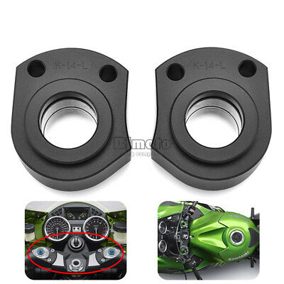 CNC Handlebar Riser Spacer Kit For KAWASAKI ZX-14R/ZZR1400 2006-2018 Black