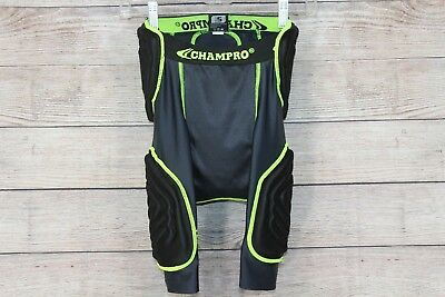 Champro 5 Piece Adult Mens Small S Football Girdle Black Dri Gear Padded Shorts