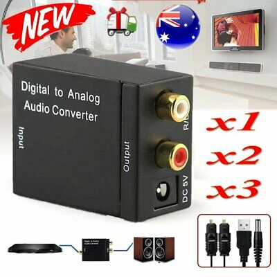 Optical Digital Coax Coaxial Toslink to Analog Audio RCA L/R Converter Adapters