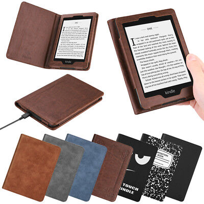 For All-New Amazon Kindle Paperwhite 10th Gen 2018 PU Leather Folio Case Cover