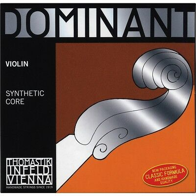 Thomastik Dominant 3/4 Size Violin Strings 3/4 Wound E String, Ball End