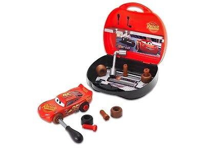Disney Pixar Cars Lightning McQueen Smoby Tool Box and Car Toy