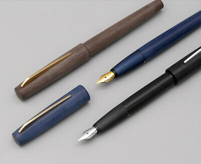 KACO EDGE Black/ Blue/ Brown Fountain Pen, Schmidt EF/F/M Nib Gift Pen Converter