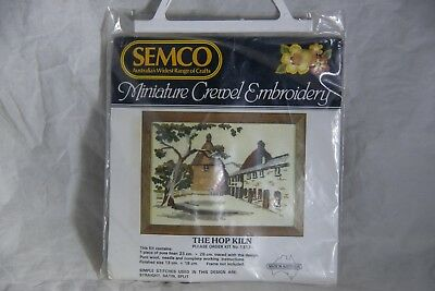 SEMCO Miniature Crewel Embroidery The Hop Kiln Kit No. 1313