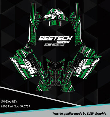 SLED WRAP GRAPHICS KIT DECAL STICKERS SKI-DOO REV MXZ SNOWMOBILE 03-07 SA0165