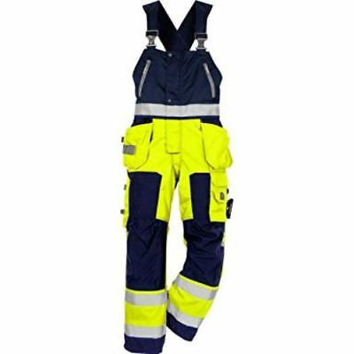 Quality work wear Hi Viz  Workwear Bib and Brace trousers by Fristads  Free P+P