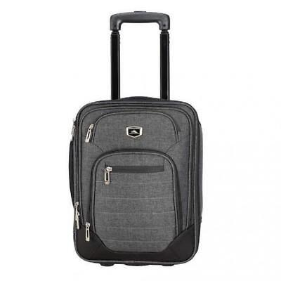 NWT TheHigh Sierra Wheeled Soft Side Underseat Carry-On Tote Luggage, Gray