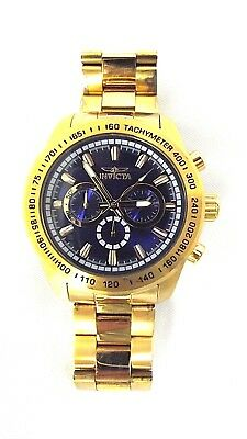 Invicta Watch Speedway Stainless Steel Chronograph 100m Gold Tone