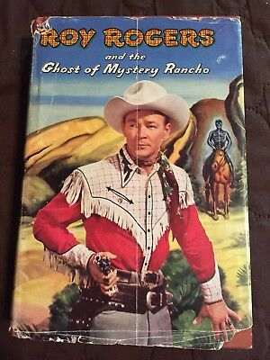 Vintage ROY ROGERS And The Ghost Of Mystery Rancho Hardcover Book