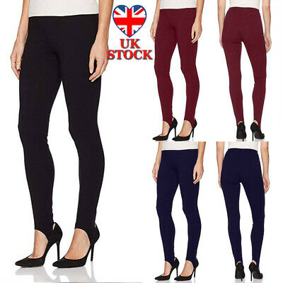 New Women Ladies Pull On Ski Pants Elasticated Stirrup Trouser Plus Sizes 10-18