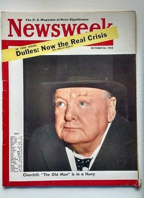 Original Vintage 1953 Newsweek Magazine, Sir WINSTON CHURCHILL, not Time.