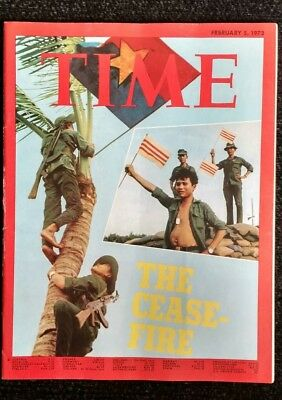 Time Magazine, February 5, 1973. The Cease- Fire. Viet Nam