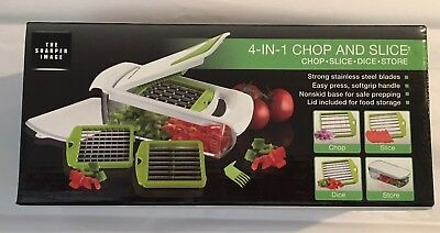 Sharper Image 4 In 1 Chop And Slice Chopper Slicer Brand New Nib