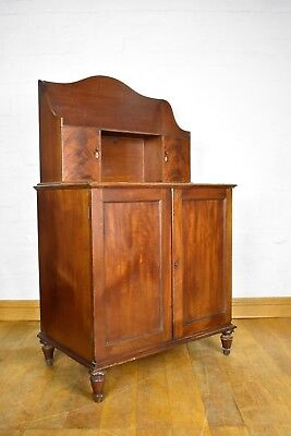 Antique flame mahogany side cabinet chiffonier sideboard