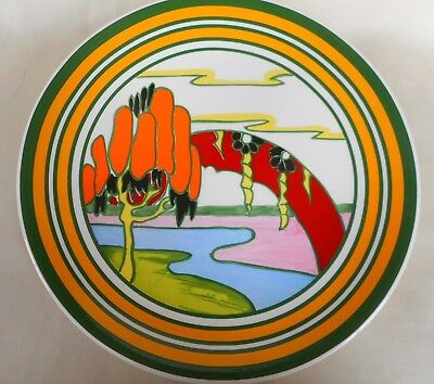 Wedgwood Clarice Cliff Bizarre Solitude Centenary Charger/  Plate ~ Beautiful  !