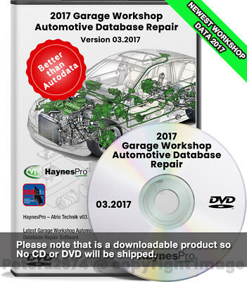 2017.03 Garage Workshop Automotive Database Repair Software