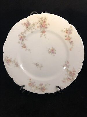 THEODORE HAVILAND PORCELAIN FRENCH LIMOGES SALAD PLATE Scalloped Edge Rose Pink