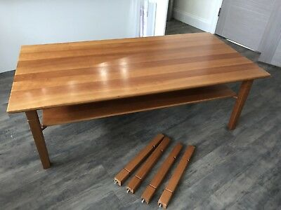 Solid Cherry Wood Coffee Table 85 00 Picclick Uk
