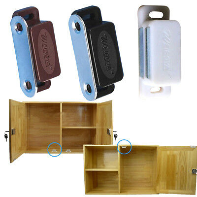 2pcs Set Magnetic Door Catches For Kitchen Cabinet Cupboard Wardrobe Latch Abs