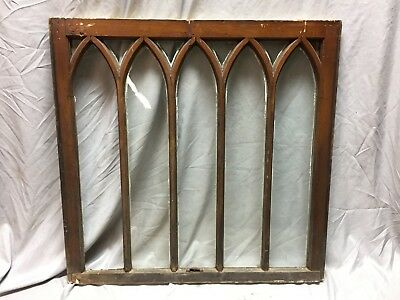 Antique Gothic Arched Window Sash Shabby Vintage Old Chic 33X34 467-18C