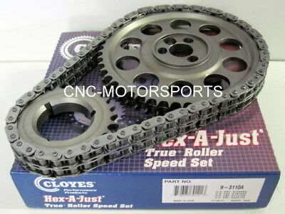 BBC BB Chevy 396 402 454 HEX-A-JUST TRUE ROLLER TIMING CHAIN KIT CLOYES 9-3110A