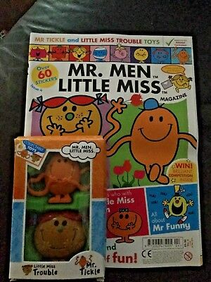 mr men magazine issue 4 with gifts little miss trouble  & mr tickle