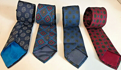 4 Narrow Vintage A. SULKA & Co. Silk Ties Skinny Rockabilly