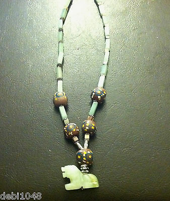 Year of the Tiger  Zetroc Dezigns Jade & African Bead necklace to celebrate you