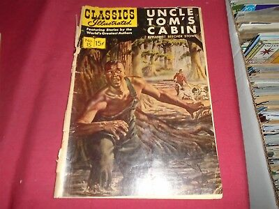 CLASSICS ILLUSTRATED #15 Uncle Tom's Cabin HRN 167 Poor