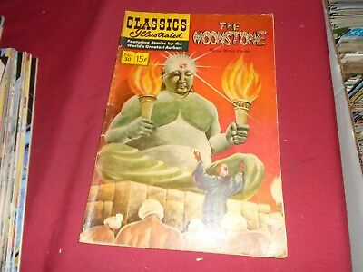 CLASSICS ILLUSTRATED #30 The Moonstone 167 HRN 101 GD
