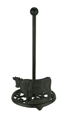 Cast Iron Standing Cow Paper Towel Holder