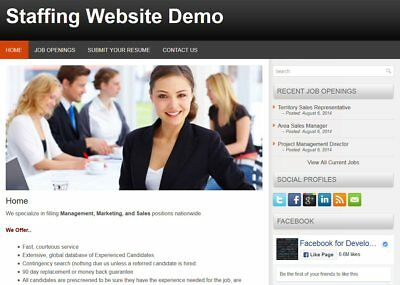 Mobile Responsive Staffing Web Site for Personnel / Staffing Firm