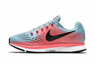 710dfddc5042 Nike Womens Air Zoom Pegasus 34 Sz 11 Athletic Running Shoe Blue Pink  880560 NIB