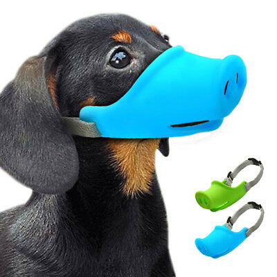 High Quality Silicone Puppy Small Pet Dog Muzzle Basket Funny Pig Nose Design US
