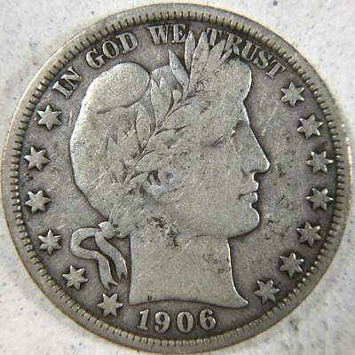 1906-D Barber Half Dollar 50c, F/VF - Fine to Very Fine *C68
