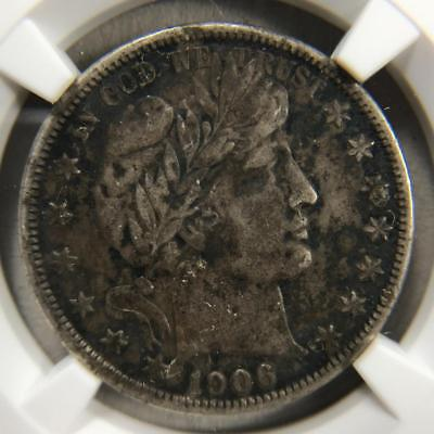 1906-S Barber Half Dollar 50c, NGC VF Very Fine *A19