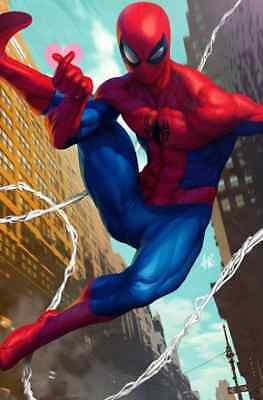 Friendly Neighborhood Spiderman 1 2018 1:100 Stanley Artgerm Lau Virgin Variant