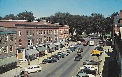 Main Street Business District Hanover NH nr Dartmouth College vintage not used